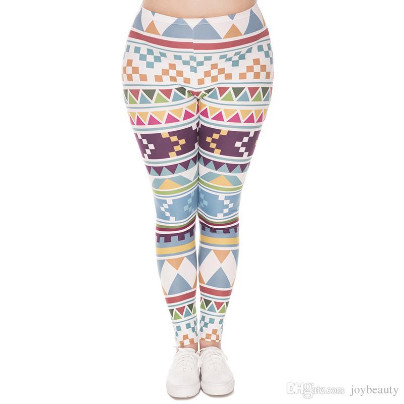 9ba38ac24a6d8 2019 Girl Leggings Aztec Morski 3D Digital Printed Women Sportwear Elastic  Waist Band Pants Lady Capris Trousers Plus Size Fits L XL XXL J45742 From  ...