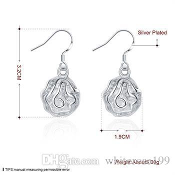 도매 - 최저 가격 크리스마스 선물 925 스털링 실버 패션 귀걸이 E36