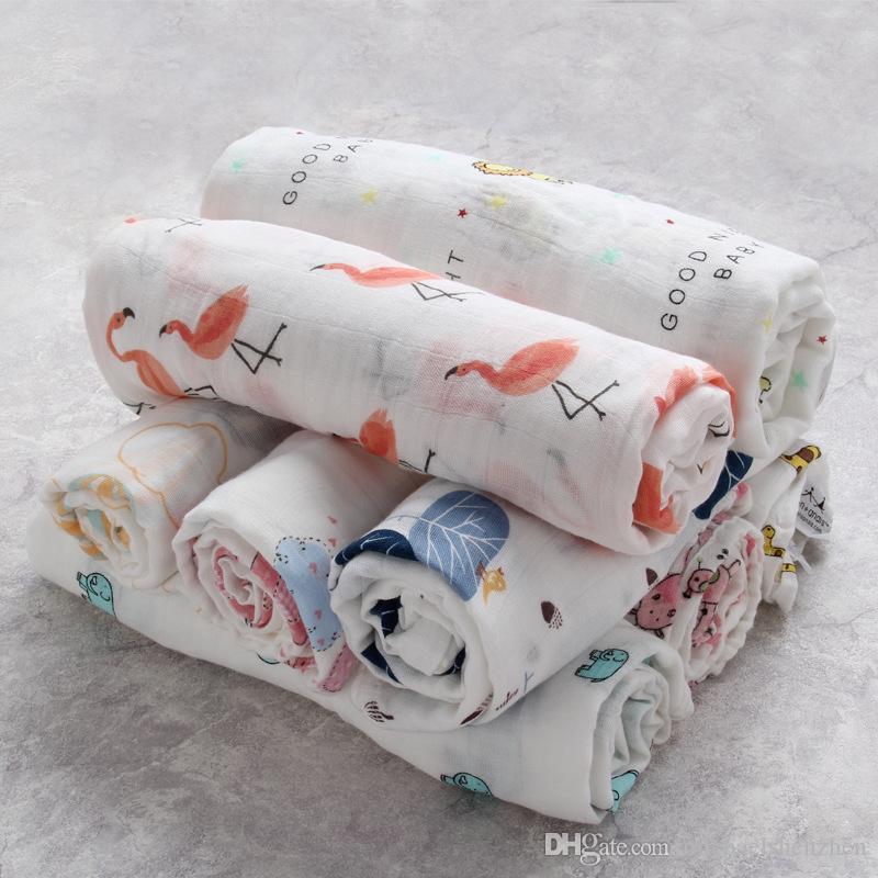 22 Style INS Baby Boy Girls Fox fenicottero Coperte bambini Nursery Biancheria da letto Cartoon lemon Watermelon Stampa Soft Swaddling Infant Wrapping B001