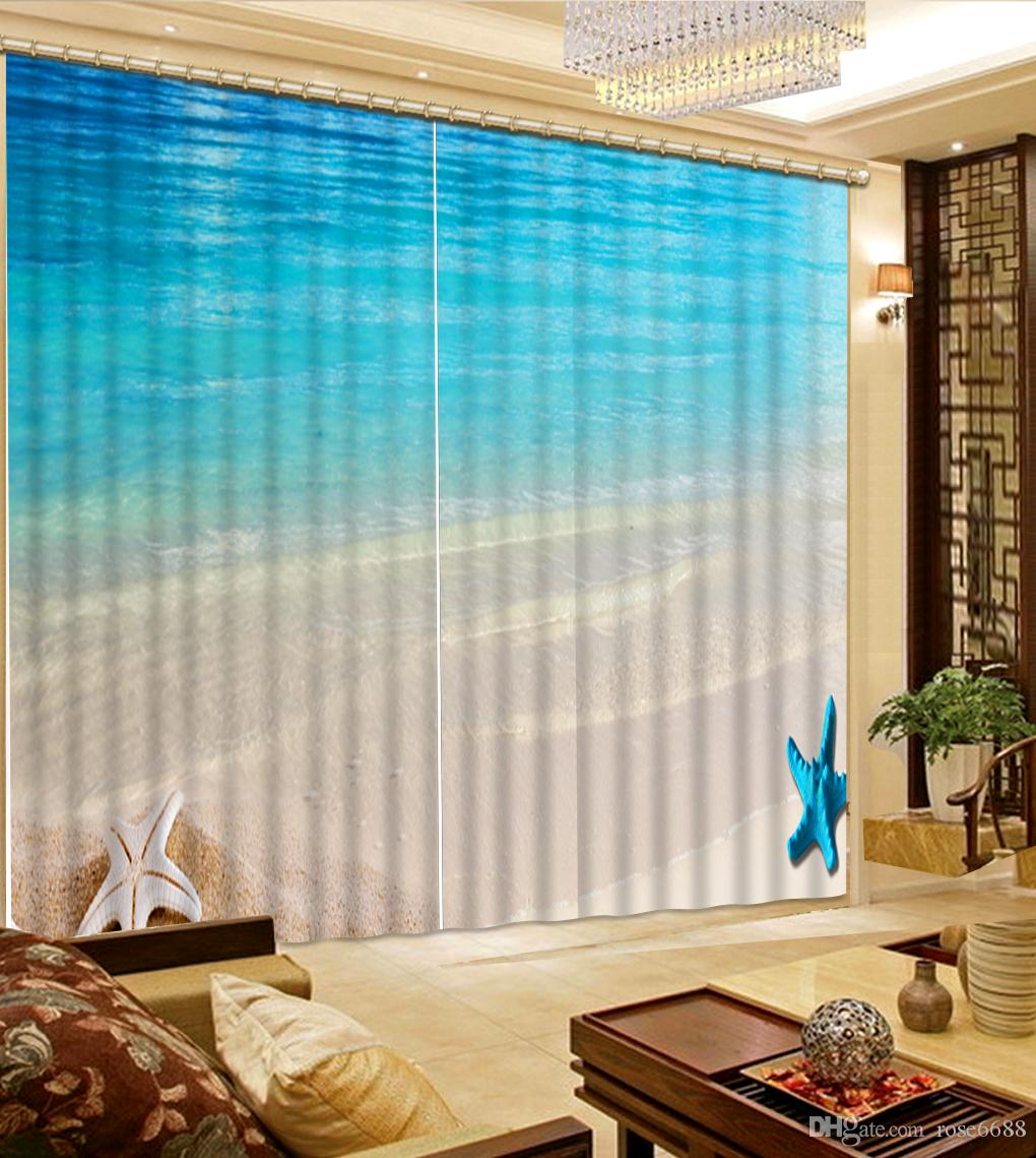 Beach Window Curtains Part - 32: 2017 Modern Curtains For Bedroom Decorative Home Decor Beach Wave 3d Curtain  Blackout Bedroom Curtains From Rose6688, $199.4 | Dhgate.Com