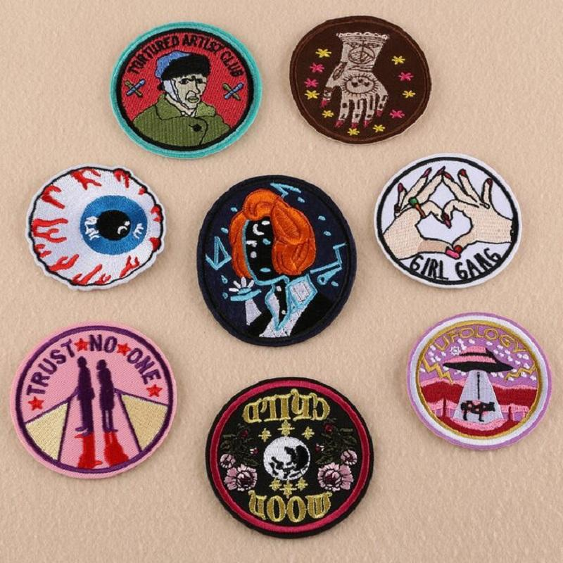 Iron on patches diy embroidered patch sticker for