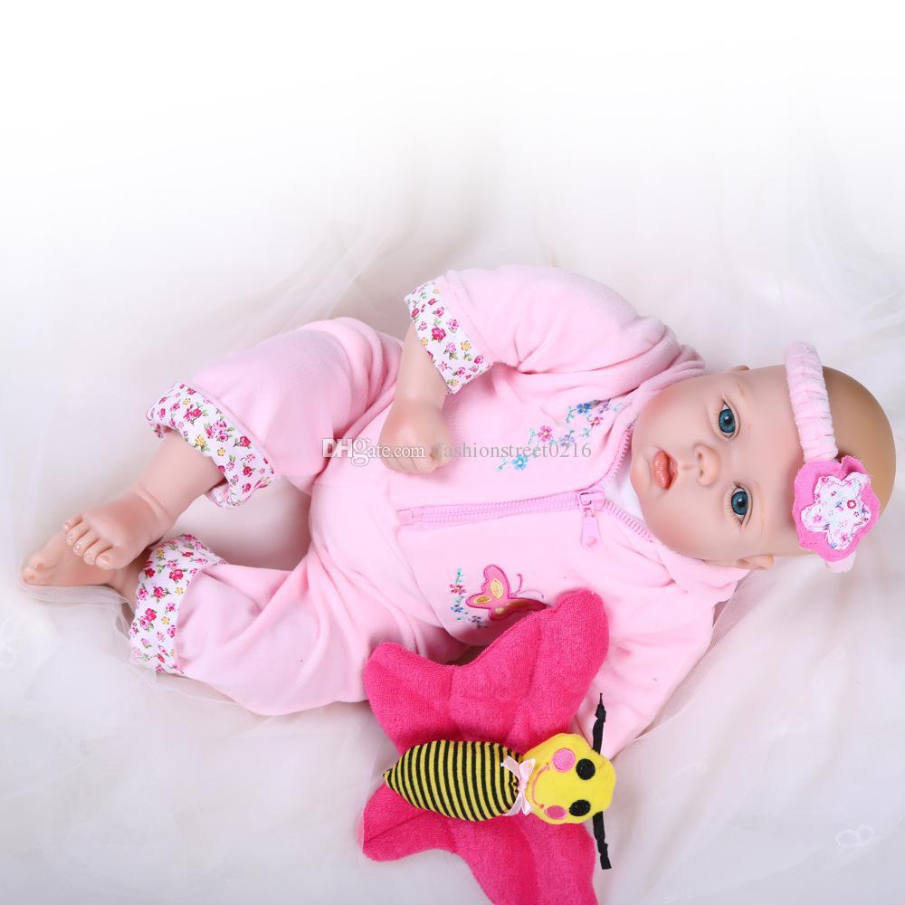 22  Handmade Lifelike Baby Boy Girl Silicone Vinyl Reborn Newborn ... aae04ddcc1db