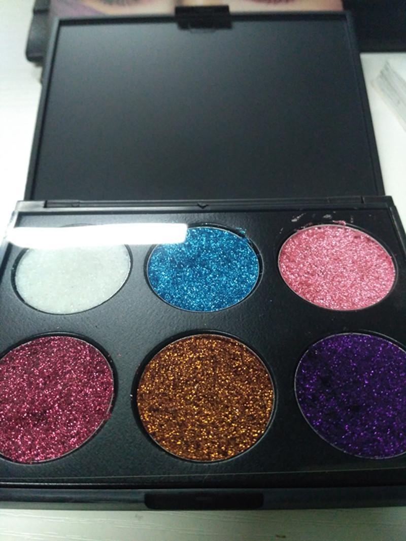 Neue Marke MPBeauty 6 Farbe Pigmented Glitter Schatten wasserdicht Schimmer Make-up Lidschatten hochwertige Dhl-Versand
