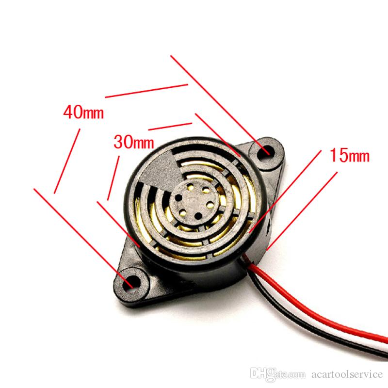 New Wired High-Decibel 95DB DC 3-24V Piezo Electronic Tone Big Sound Voice Buzzer Alarm Siren For Home Security System
