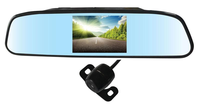 Auto Wireless Rearview Camera Car Parking 4 Sensors PZ604W 4.3 Inch Camera Pixal 648*488 2 Way Video In Free DHL