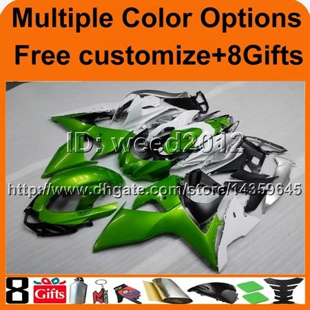 8Gifts+Tank cover green GSXR1000 2009 2010 2011 2012 2013 2014 2015 2016 K9 motor Fairing for Suzuki