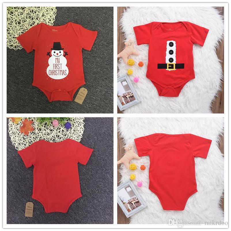 e55274fbc 2019 Mikrdoo Baby Infants Halloween Rompers Red My First Christmas Gift  Button Belt Cotton Clothes Outfit Kids Boy Girl Romper Funny Top Jumpsuit  From ...