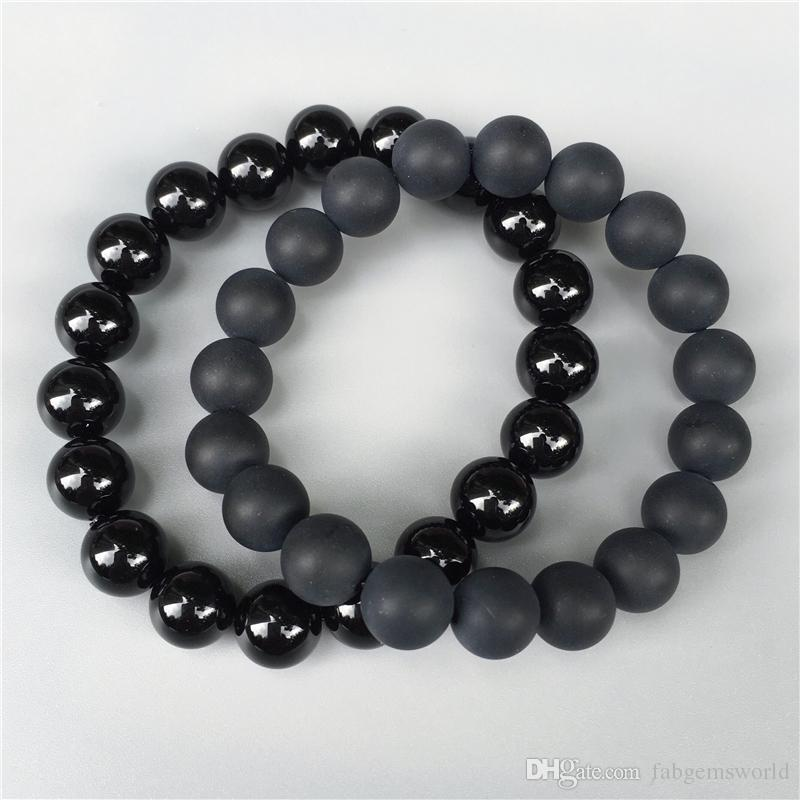 matte bracelet jewelry onyx warrior bb silver beaded black skull
