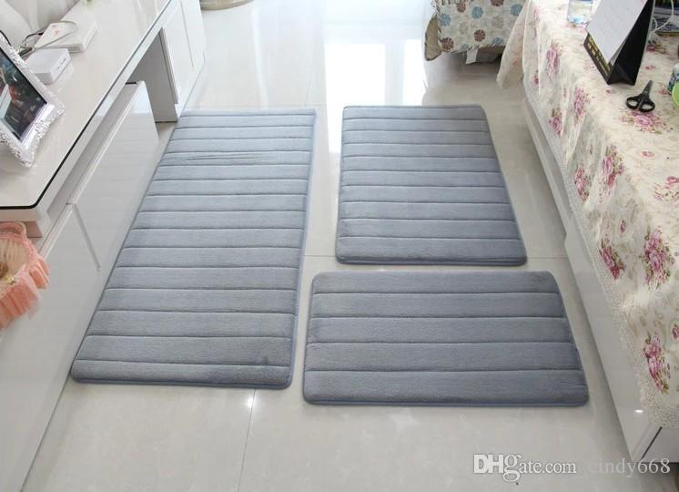Tapis de tapis de bain de mousse de la mémoire 3Pcs / set, tapis de salle  de bains anti-Silp de plancher moderne tapis, salle de bains de tapis, ...
