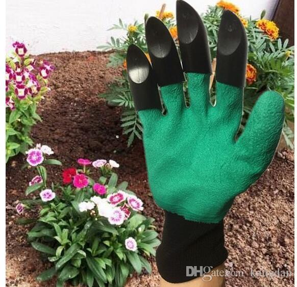 Bahçe Genie Eldiven Pençeleri Inşa 4 Pençeleri ile OPP TORBA Bahçe için Kolay yolu Kazma Dikim Çalışma Eldiven Su Geçirmez Dayanıklı Dayanıklı