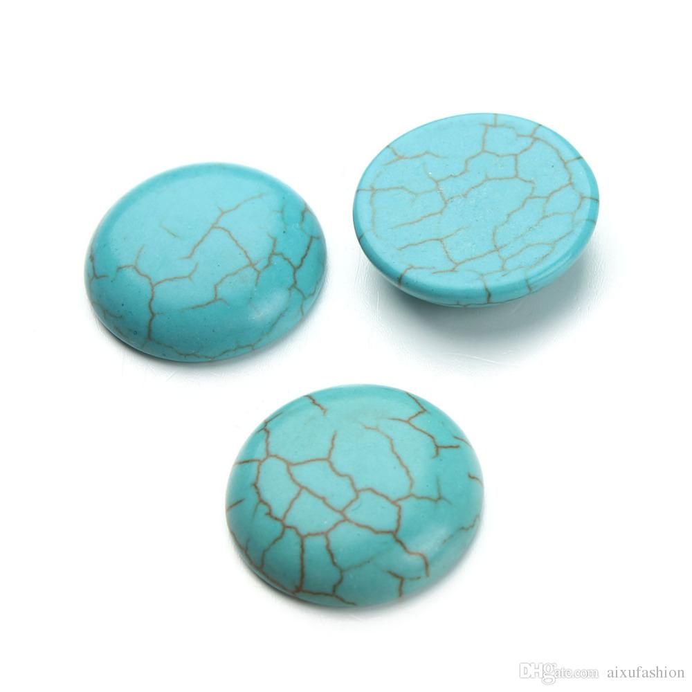 Howlite Stone Beads 6-30mm Natural Stone Turquoise Cabochon Beads Flatback Scrapbooking Domes Cabochon Cameo for Jewelry Making