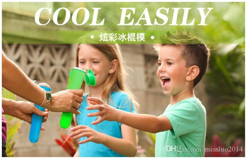 Wholesale Silicone Pop Yogurt Push Up Ice Cream ice Lolly Pop Maker Frozen Stick Jelly Popsicle Mould Mold DIY