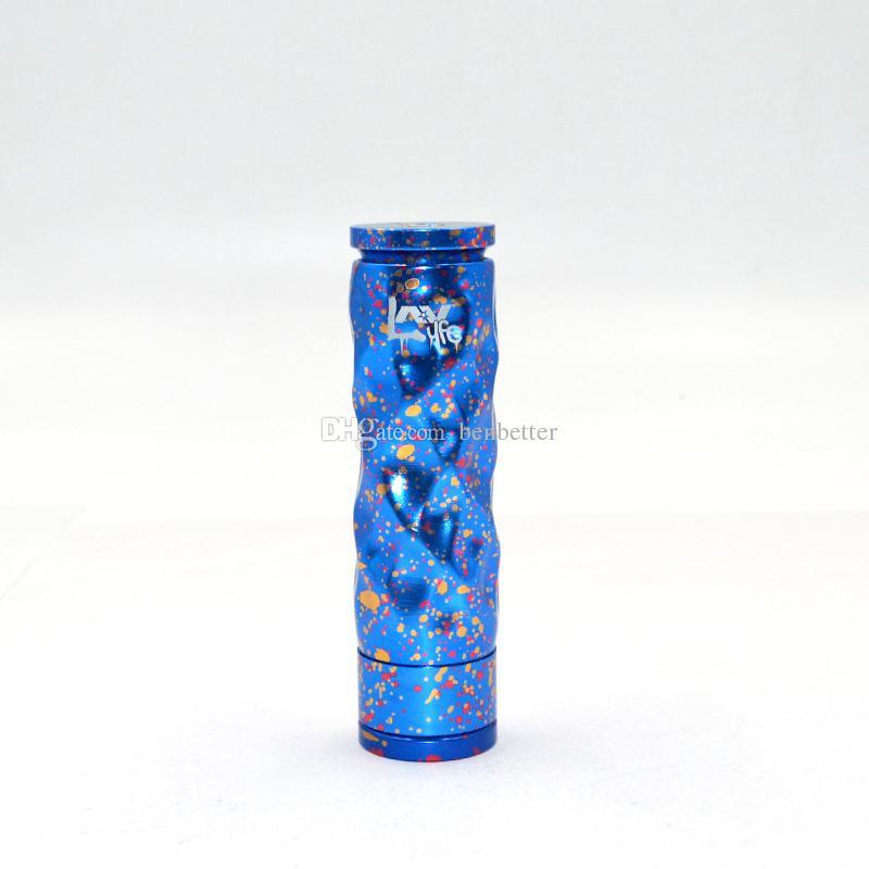 E Cigarettes AV Dimple Gyre Algodón Caramelo Mod mecánico Mejor Avid Lyfe Mech Mod 18650 Batería Vape Mod para venta al por mayor DHL Envío gratis