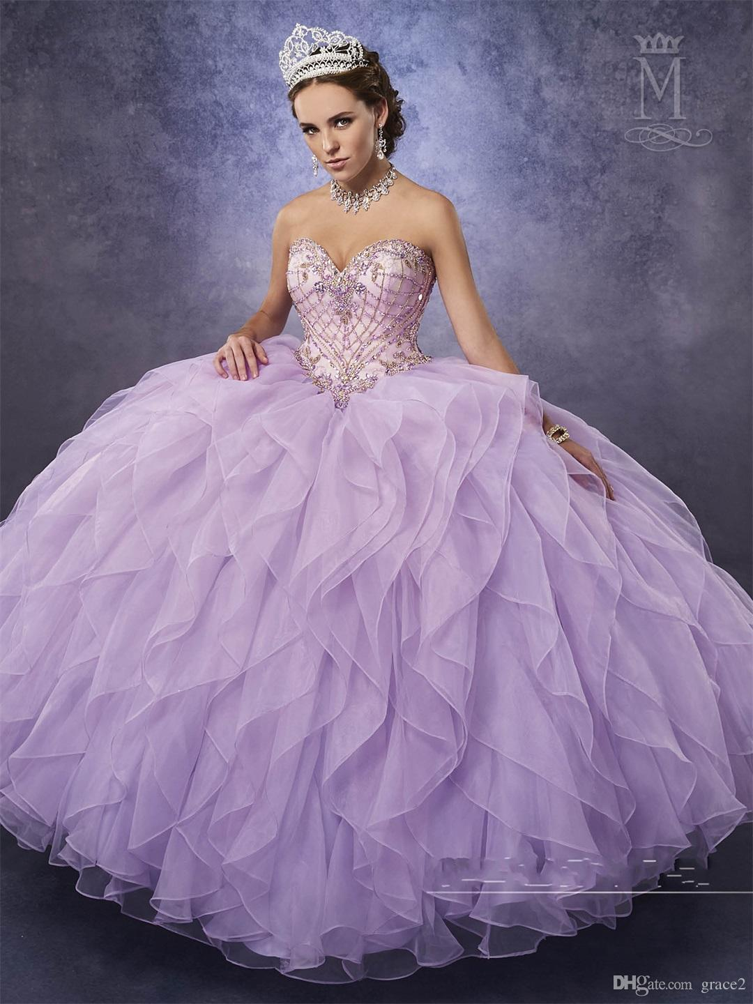 Lilac Quinceanera Dresses 2017 Mary S With Detachable Illusion Top And  Organza Ruffle Skirt Aqua Vestidos De 15 Anos Major Beading Inexpensive  Quinceanera ... bc2958ab4e8e