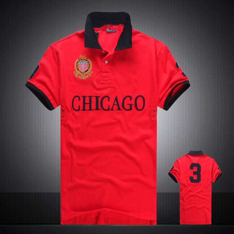 Descuento PoloShirt hombres manga corta camiseta marca Miami Nueva York Chicago Los Angeles Dubai polo hombres baratos de alta calidad envío gratis