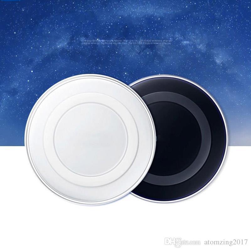 Universal Qi chargeur sans fil pour Samsung Note8 Galaxy s7 Edge s8 plus note8 iphone 8 X pad mobile avec forfait câble usb