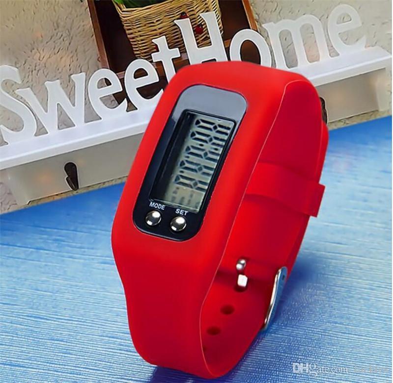Spor Kol Saati Yeni Tasarım Dijital LED Mesafe Kalori Sayacı Bilezik Açık Koşu Yürüyüş Için Renkli Izle