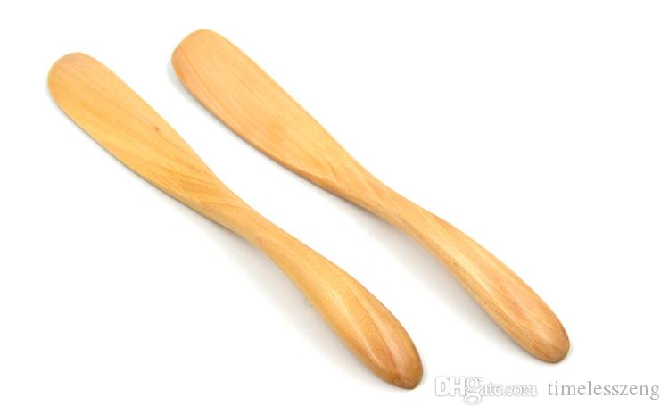 Natural wood cheese knife New arrivel wooden bread butter spatula Green and environmental protection butter knife