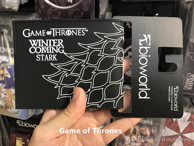 A Song Of Ice and Fire Game Wallet Womens Wallets Purses Game Of Throne Men PU Leather Short Fold Small Purse Wallet