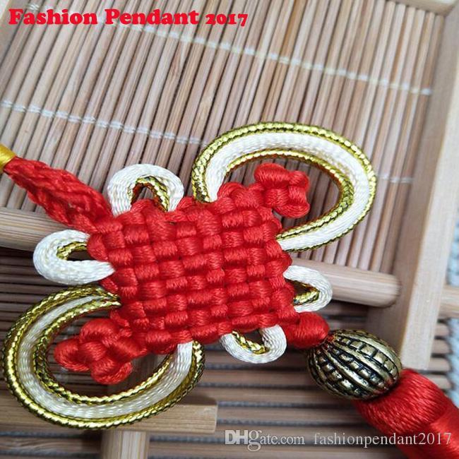 Auspicious Knot Tassel High-Grade Chinese Knot Keychain Cellphone Straps Car handbag Pendant Jewelry 26CM Diy Accessories