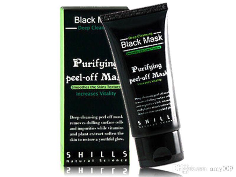 2017 Shills Peel-off face Masks Deep Cleansing Black MASK 50ML Blackhead Facial Mask Pore Cleaner Dyy daub mask purifying Matte