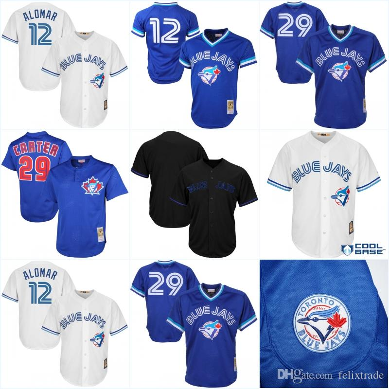 995354e5d ... purchase 2017 12 roberto alomar mens toronto blue jays throwback jersey  29 joe carter stitched embroidery