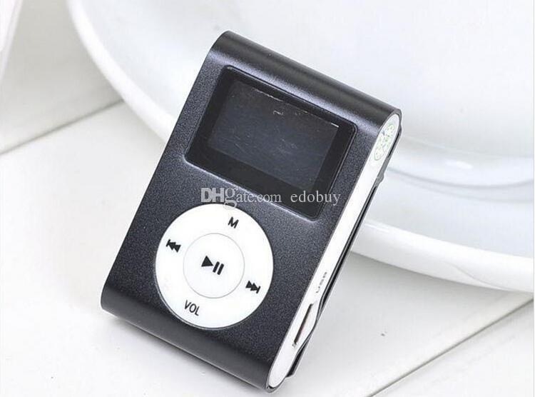 MINI Clip MP3 Player with 1.2'' Inch LCD Screen Music player Support SD Card TF+ Earphone +USB Cable with box hot