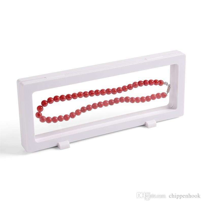 4 Pçs / lote Bulk Preço Transparente PET Janela de Suspensão Caixa de Presente Assista Genstone Dismond Moeda Colar de Jóias Display Stand Titular Rack