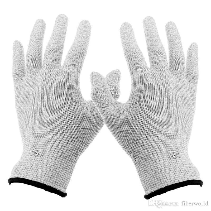 الجملة الجديدة تنفس قفازات تدليك كهربائي موصلة الكهربائي استخدام مع آلة عشرات ل أداة العلاج مدلك اليد