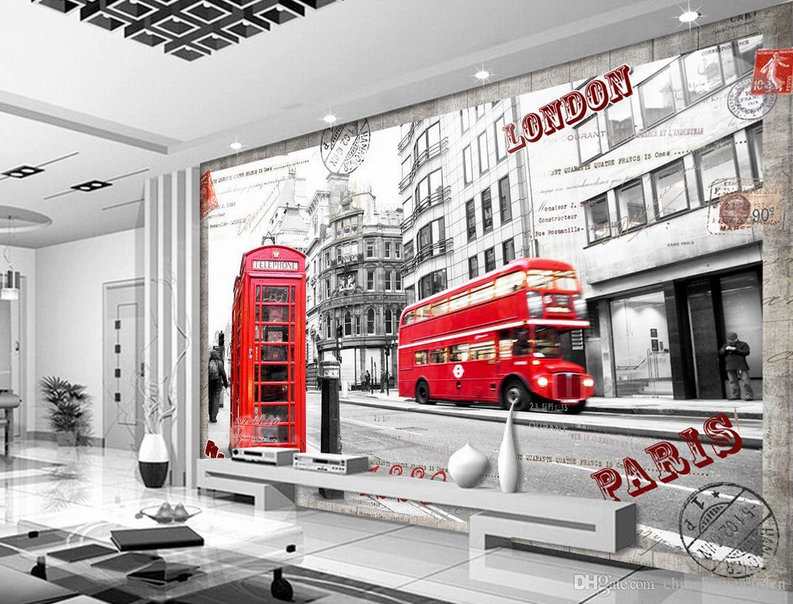 London street tv background wall mural 3d wallpaper 3d wall papers 52 amipublicfo Choice Image