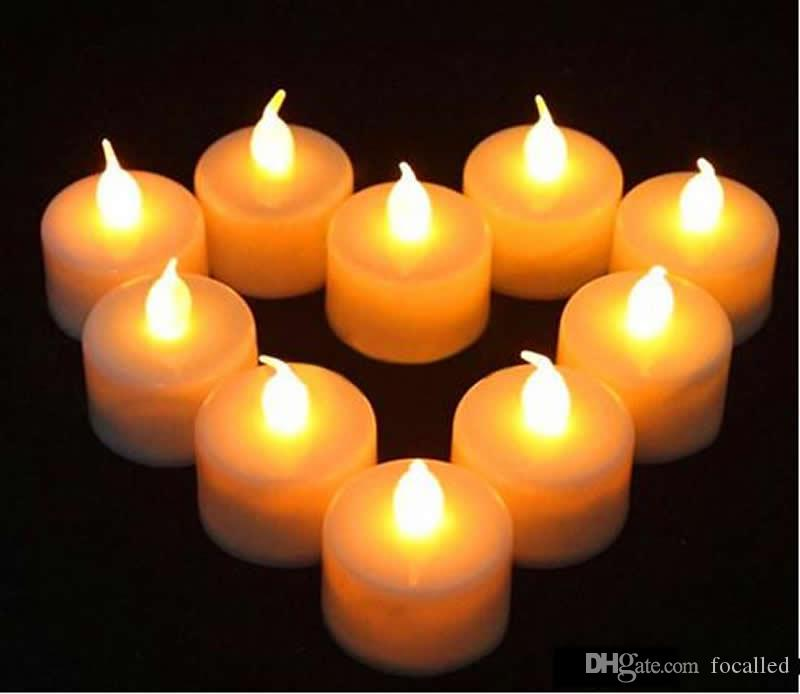 Flickering Flameless LED Tealight Tea Candles Light Battery Operated Electric candle Wedding Birthday Party Christmas Decoration