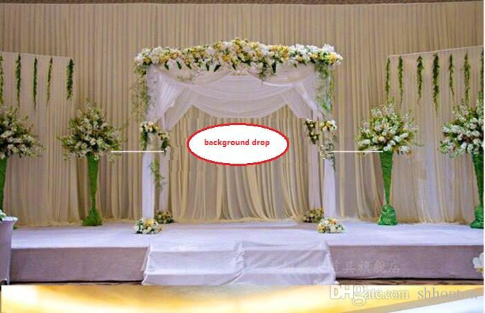 Background Satin Curtain Drape Pillar Ceiling Backdrop Marriage decoration Veil Background drop Wedding Party Stage Celebration WT031