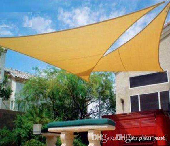 2019 Hdpe Uv Protected 5 5 5m Triangle Sun Shade Sail Nets