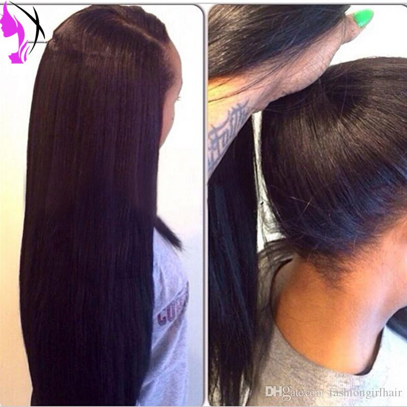 Stock Lace Front Synthetic Wigs hair wig black yaki straight cheap heat resistant african american lace wig for black women
