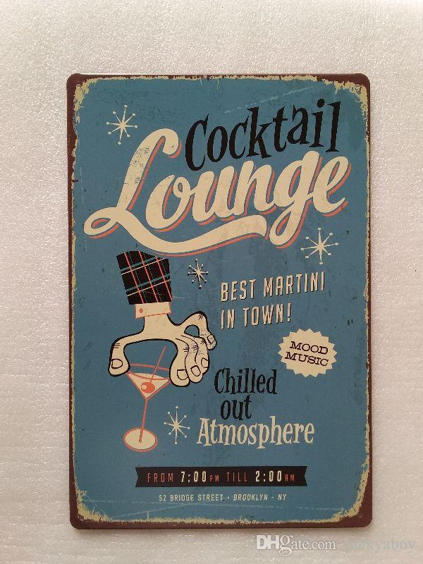 2018 cocktail louge chilled out tin sign vintage home bar pub hotel restaurant coffee shop home decorative metal retro metal poster tin sign from luckyaboy