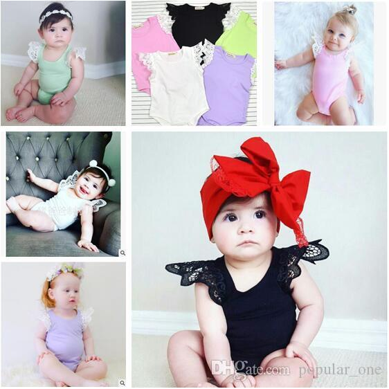 Summer Baby White Romper Clothes Cotton Fly Sleeve Rabbit Skirted