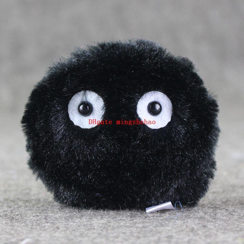 Nuevo 10 unids / lote mi vecino Totoro Susuwatari Dust Bunny felpa llavero relleno llavero colgante