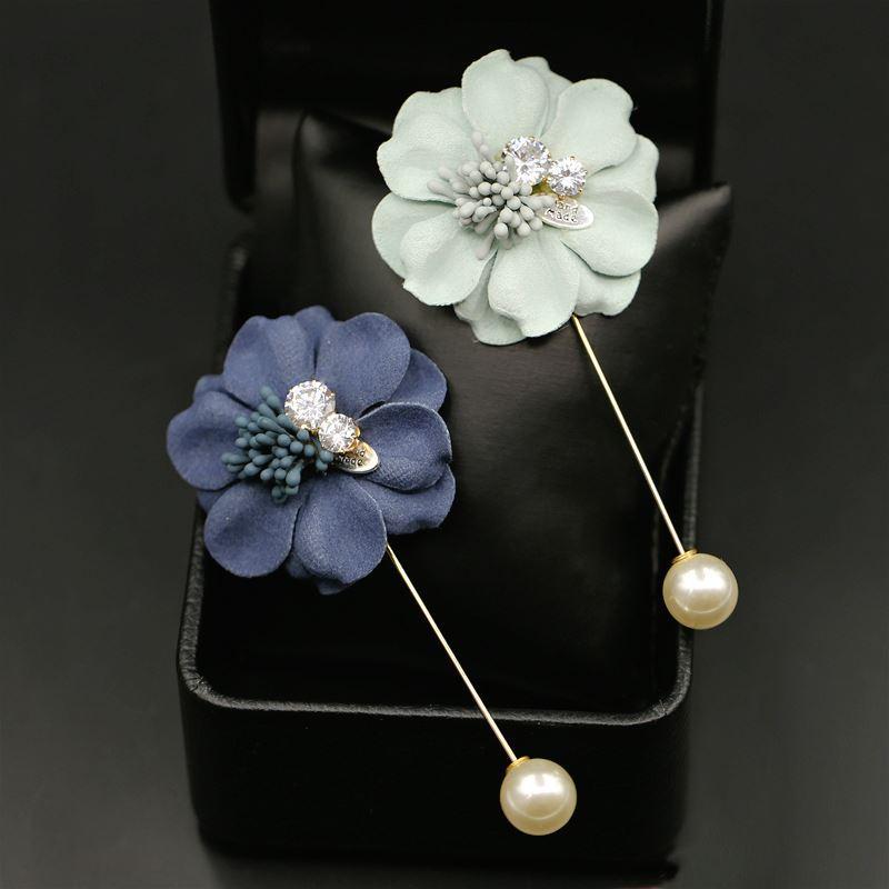 8740c950fe2 Woman Headdress Hair Colorful Plaid Jewelry Brooch Pin All Match  Accessories Korean H0093 Simulation Flower Brooch Fashionable Hair Clips  Fashion Hair ...