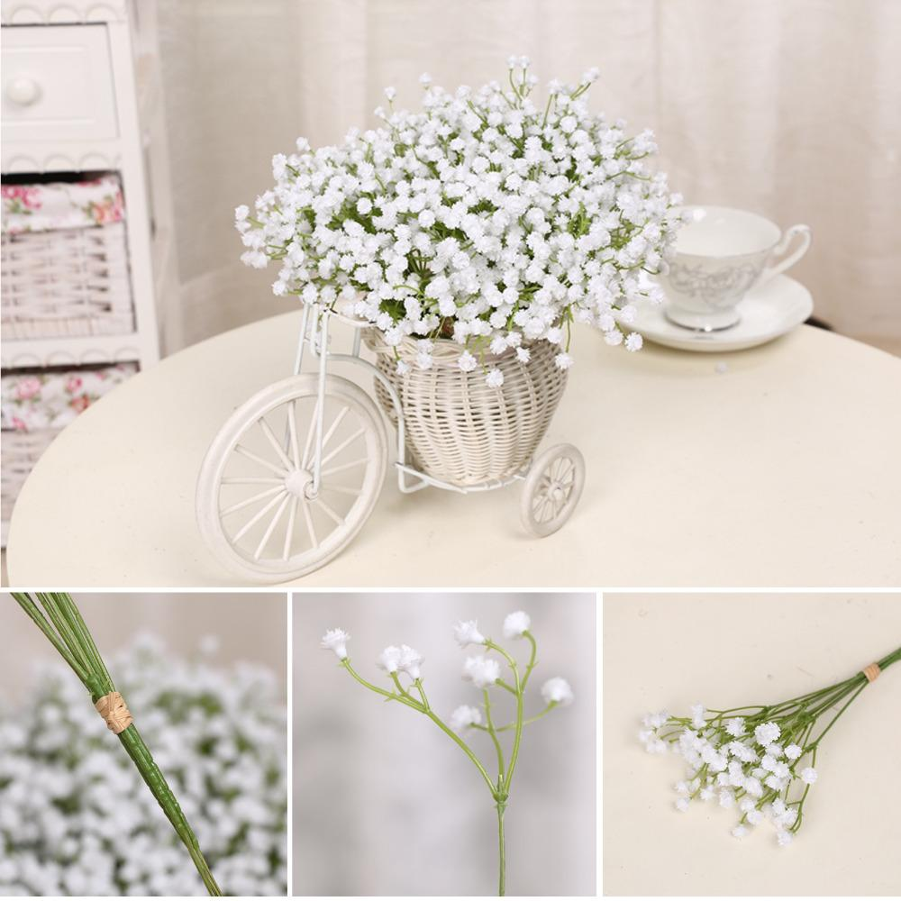 Wholesale 12bundles romantic white artificial flowers home wholesale 12bundles romantic white artificial flowers home furnishing decorations for wedding decorative for shooting props wedding decorations fall junglespirit Gallery