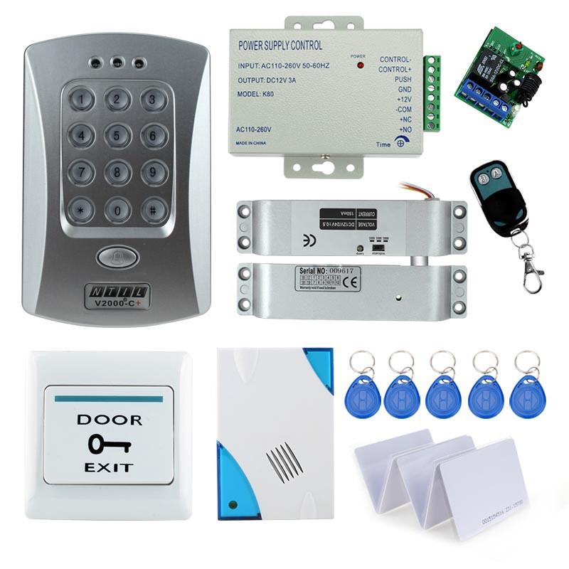 Access Control Kits Access Control Free Shipping Full Set With Electric Bolt Lock+keypad+power Supply+exit Switch+keys Door Access Control System Kit Products Hot Sale