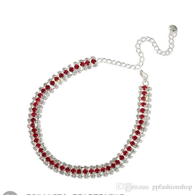 2017 новый алмаз колье ошейники, ожерелье Корея воротник ключицы ожерелье короткий раздел простой шеи ювелирные изделия шеи цепи
