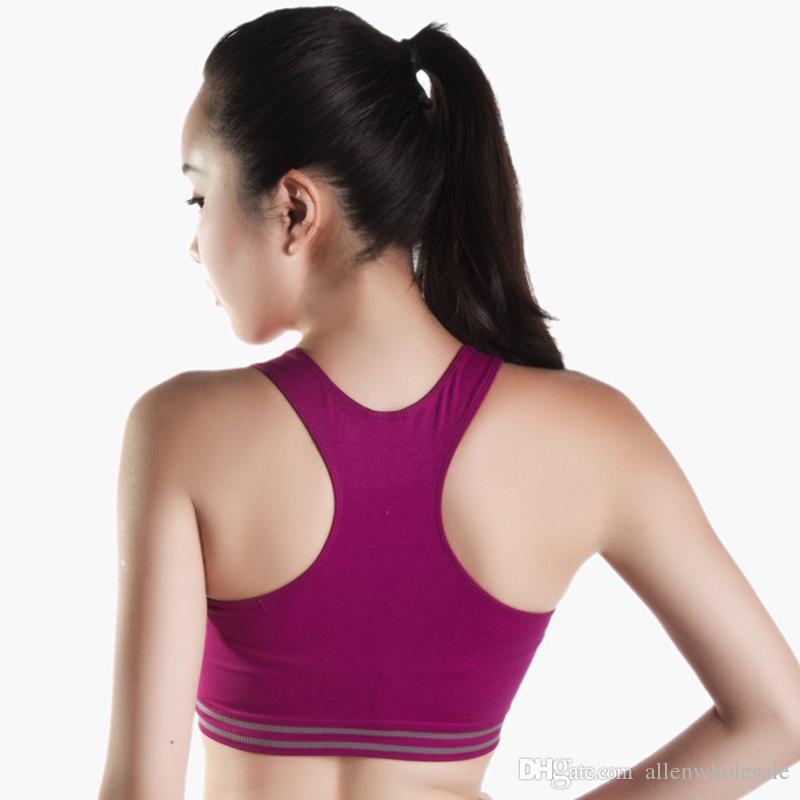 Kadın yastıklı spor Yoga sutyen aktif yelek şekillendirici Push up iç çamaşırı 100 adet / grup