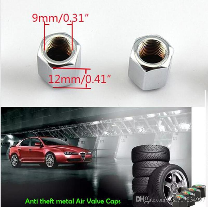 Car accessories Hot Sale Car Wheel Tire Valve Caps with Mini Wrench & Keychain logo Biochemical for Chevrolet cruze 4-Piece/P