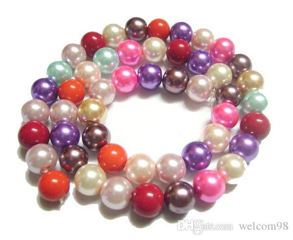 / 8mm Mix Colors Branelli rotondi di vetro allentato il regalo dei gioielli del mestiere fai da te MP06