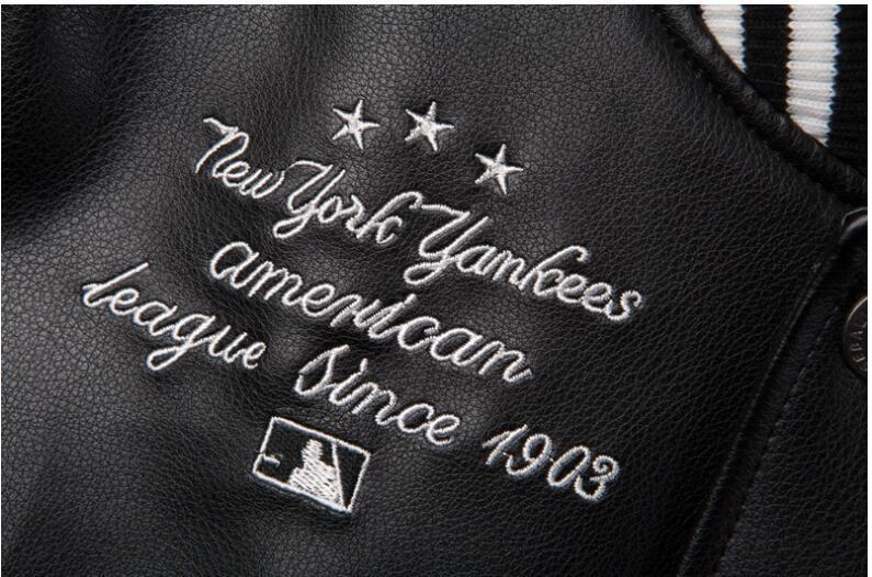 Vestes homme Marque Caual Hommes New York PU manteau Mode Hip Hop broderie Baseball NY veste Sweat-shirts