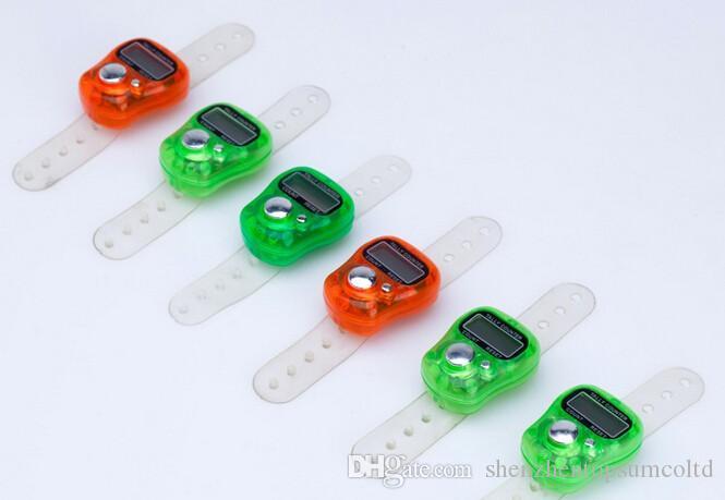 무료 배송 200 X 미니 디지털 전자 무슬림 손가락 반지 집계 카운터 Tasbeeh Tasbih 골프 사원