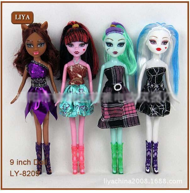 INS QUENTE Monster High Dolls 9 Polegada Monstro Elfo High School Meninas Bonecas Bonecos Do Miúdo Brinquedos Novidade Presente de Aniversário Navio Por DHL