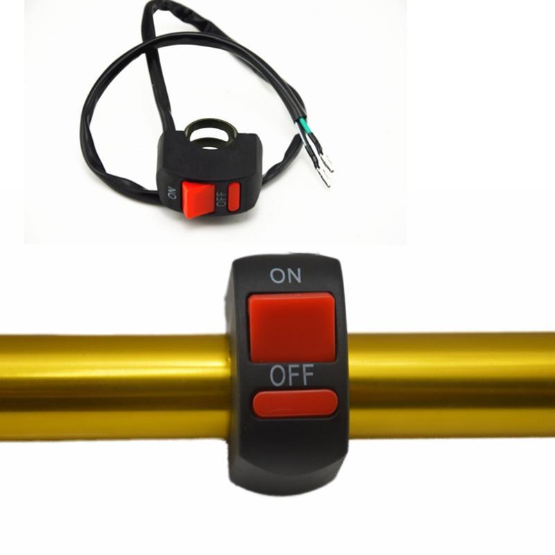 Motocicleta universal Barra de luces Interruptor de luz antiniebla Interruptor de botón de ENCENDIDO-APAGADO 12VDC Para U5 U7 LED Cabeza Lámpara Angel Eyes Luz interruptor de empuje