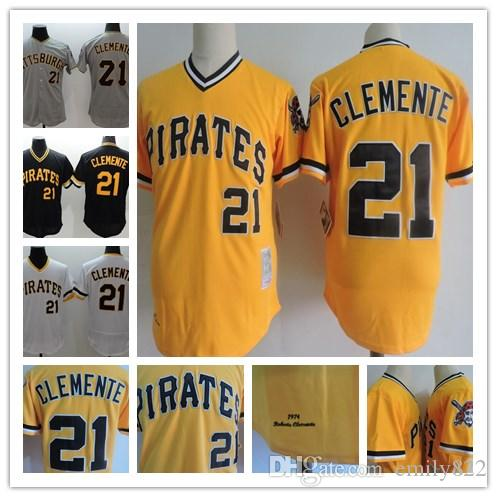 quality design 3efb4 08791 pittsburgh pirates 21 roberto clemente black throwback jersey