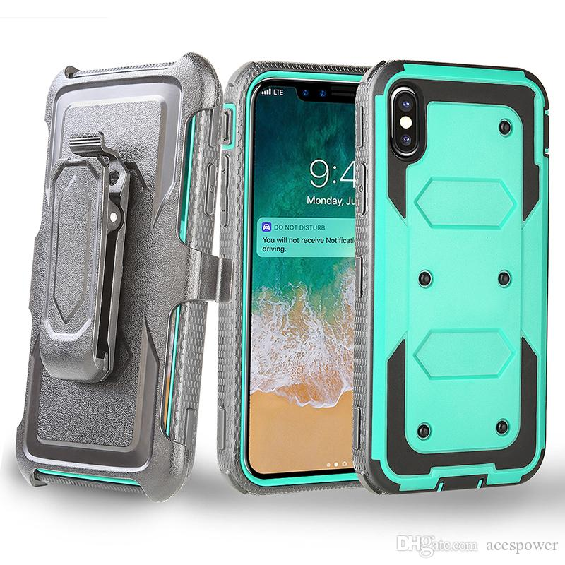 Heavy Duty Holster Case with Belt Clip Cover Hybrid Case For Iphone XR XS MAX X 8 Plus Samsung Galaxy Note 9 S9